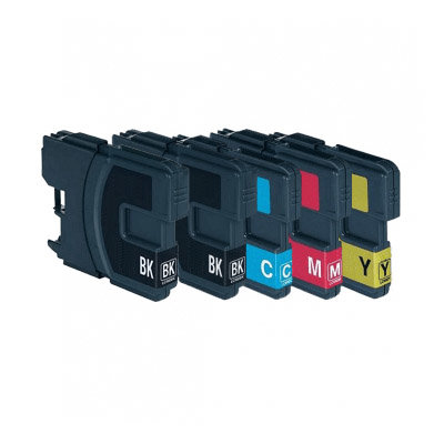 Huismerk Brother LC-1100BK/LC-980BK Inktcartridges Multipack 5-Pack