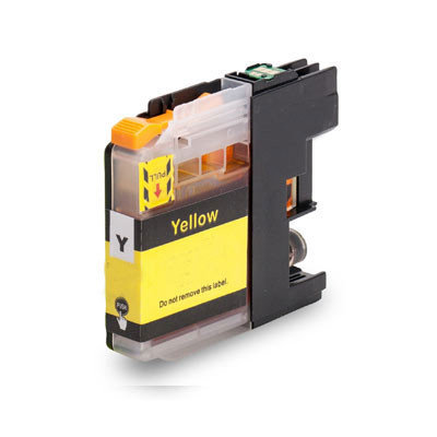 Huismerk Brother LC-22EY Inktcartridge Geel
