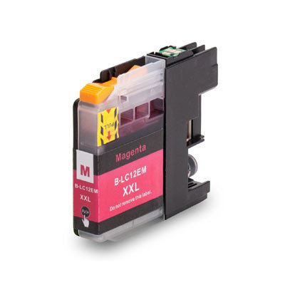 Huismerk Brother LC-12EM Inktcartridge Magenta
