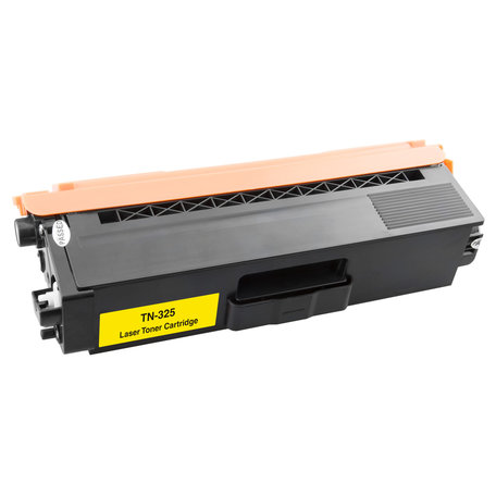 Huismerk Brother TN-325Y Toner Geel