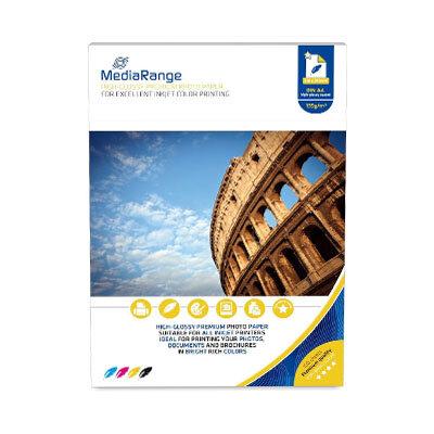 MediaRange Fotopapier High Glossy A4, 135 gr/m2, 100 Vel