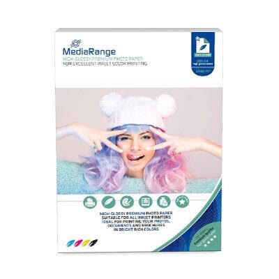 MediaRange Fotopapier High Glossy A4, 220 gr/m2, 100 Vel