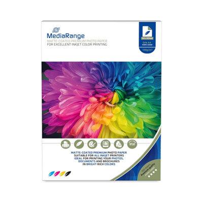 MediaRange Inkjet Fotopapier Matte-coated A4, 130 gr/m2, 100 Vel