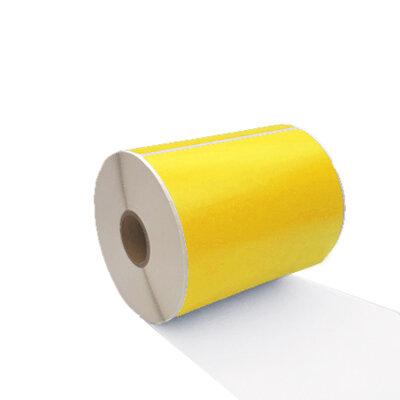 Huismerk Zebra labels, Verzendetiketten 102mmx150mm PostNL/DHL/DPD/UPS/GLS/TNT, 300 Etiketten, 25mm Kern, Geel, Permanent