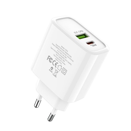 HOCO C57A Speed Charger PD+QC3.0 Duo-poort 18W Oplader