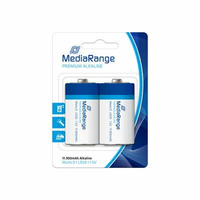 MediaRange Premium Alkaline Batterij Mono D LR20 1.5V (2 stuks)