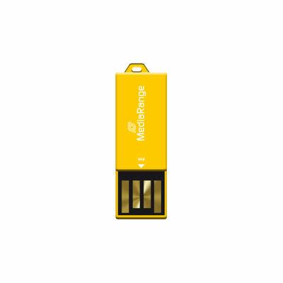 MediaRange USB Nano-USB Stick met Paperclip-funktie Geel 16GB