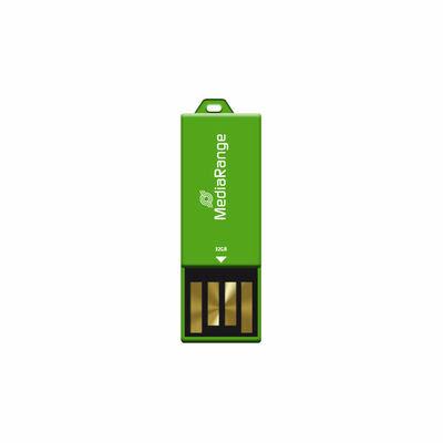 MediaRange USB Nano-USB Stick met Paperclip-funktie Groen 32GB