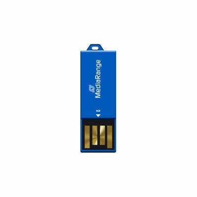 MediaRange USB Nano-USB Stick met Paperclip-funktie Blauw 8GB