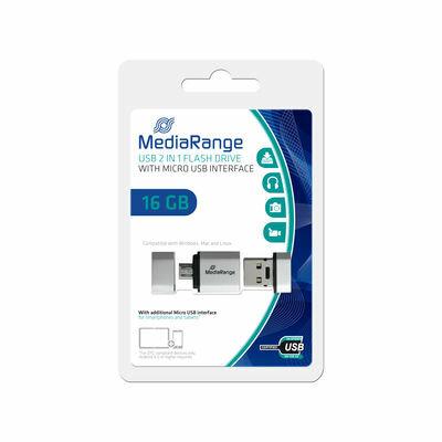 MediaRange Mobile 2in1 USB OTG Flash Drive 16 GB