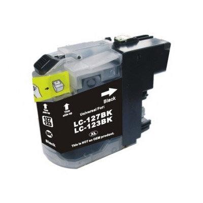 Huismerk Brother LC-123BK Inktcartridge Zwart