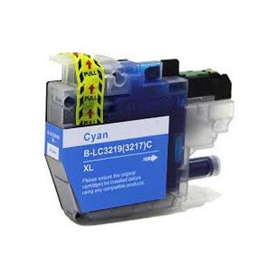 Huismerk Brother LC-3219XLC Inktcartridge Cyaan Hoge Capaciteit