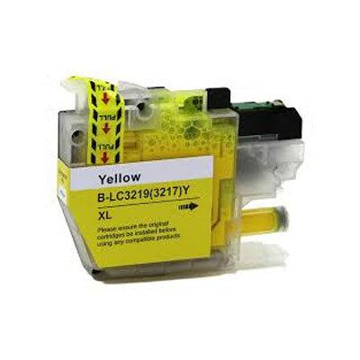 Huismerk Brother LC-3219XLY Inktcartridge Geel Hoge Capaciteit