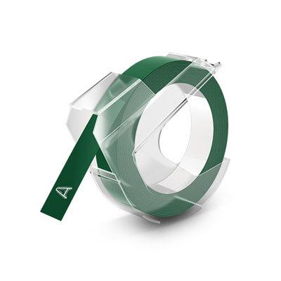 Huismerk DYMO Embossing Lettertape Wit op Groen 9mmx3m S0898160