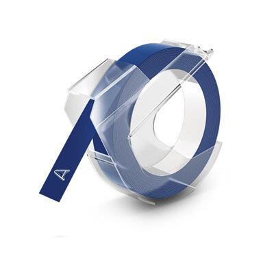 Huismerk DYMO Embossing Lettertape Wit op Blauw 9mmx3m S0898140
