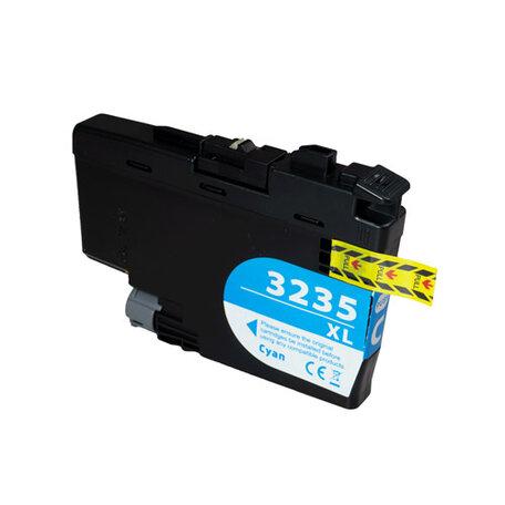 Huismerk Brother LC-3235XLC Inktcartridge Cyaan Hoge Capactiteit
