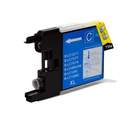 Huismerk Brother LC-1280XLC Inktcartridge Cyaan