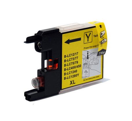 Huismerk Brother LC-1280XLY Inktcartridge Geel