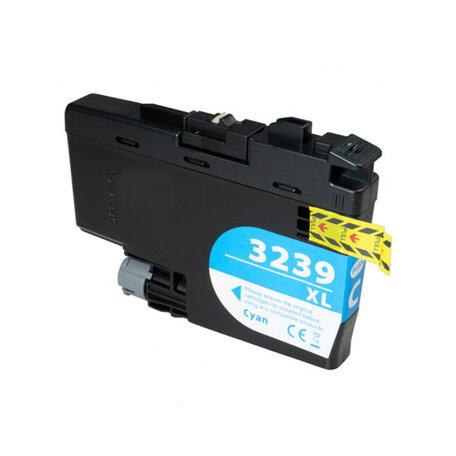 Huismerk Brother LC-3239XLC Inktcartridge Cyaan Hoge Capactiteit
