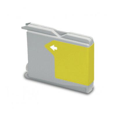 Huismerk Brother LC-1000Y/LC-970Y Inktcartridge Geel