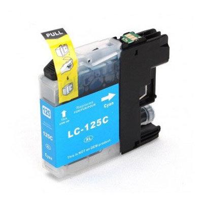 Huismerk Brother LC-125XLC Inktcartridge Cyaan