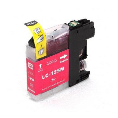 Huismerk Brother LC-125XLM Inktcartridge Magenta