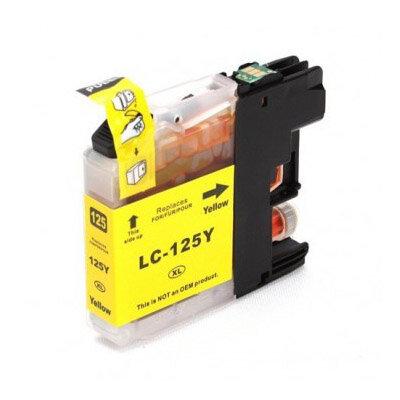 Huismerk Brother LC-125XLY Inktcartridge Geel