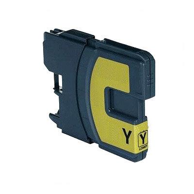 Huismerk Brother LC-1100Y/LC-980Y Inktcartridge Geel