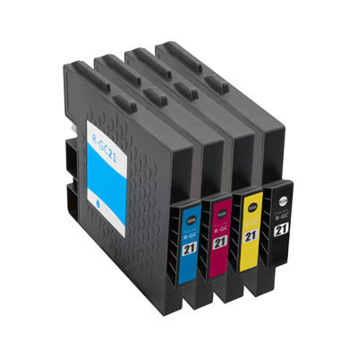 Huismerk Ricoh GC-21 Inktcartridges Multipack 4-Pack