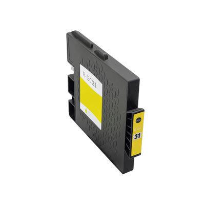 Huismerk Ricoh GC-31Y Inktcartridge Geel