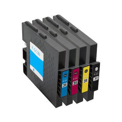 Huismerk Ricoh GC-31 Inktcartridges Multipack 4-Pack