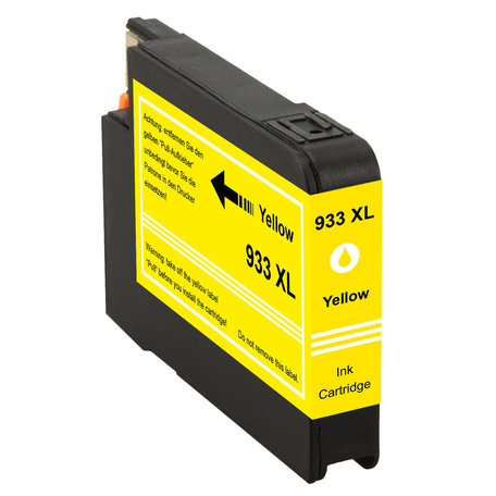 Huismerk HP 933XL Inktcartridge Geel