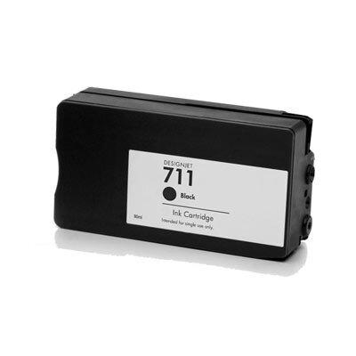 Huismerk HP 711 (CZ133A) inktcartridge zwart