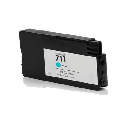 Huismerk HP 711 (CZ130A) Inktcartridge Cyaan