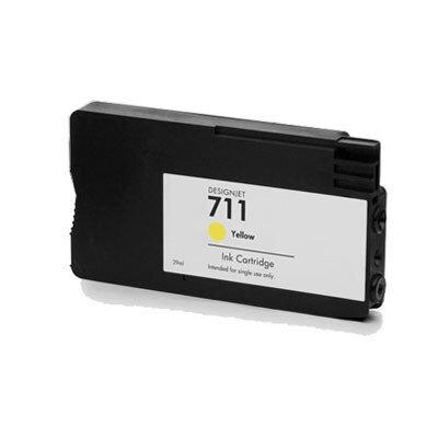 Huismerk HP 711 (CZ132A) Inktcartridge Geel
