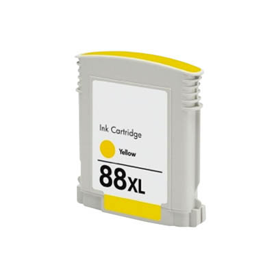 Huismerk HP 88XL Inktcartridge Geel