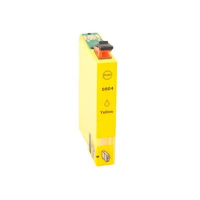 Huismerk Epson T0804 Inktcartridge Geel