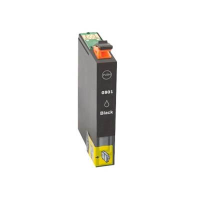 Huismerk Epson T0801 Inktcartridge Zwart
