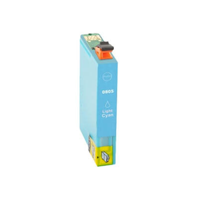 Huismerk Epson T0805 Inktcartridge Licht Cyaan
