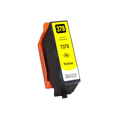Huismerk Epson 378XL (T3794) Inktcartridge Geel