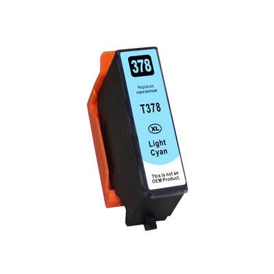 Huismerk Epson 378XL (T3795) Inktcartridge Licht Cyaan