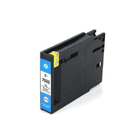 Huismerk Epson T7552 Inktcartridge Cyaan