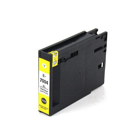 Huismerk Epson T7554 Inktcartridge Geel