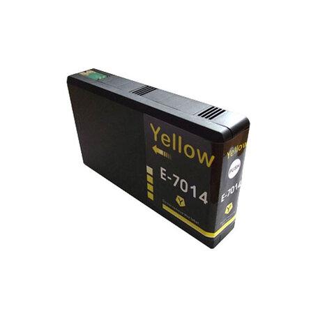 Huismerk Epson T7014 Inktcartridge Geel
