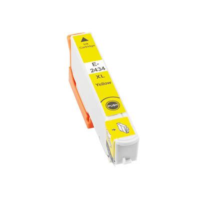 Huismerk Epson 24XL (T2434) Inktcartridge Geel