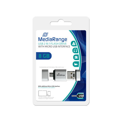 MediaRange Mobile 2in1 USB OTG Flash Drive 8 GB