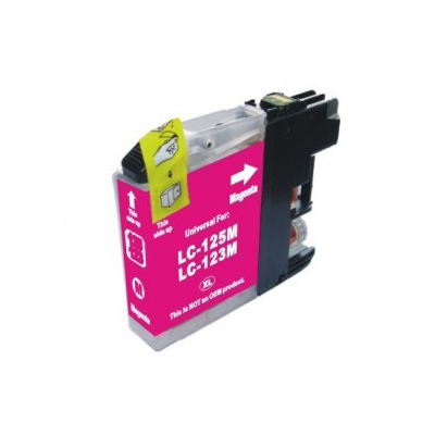 Huismerk Brother LC-123M Inktcartridge Magenta