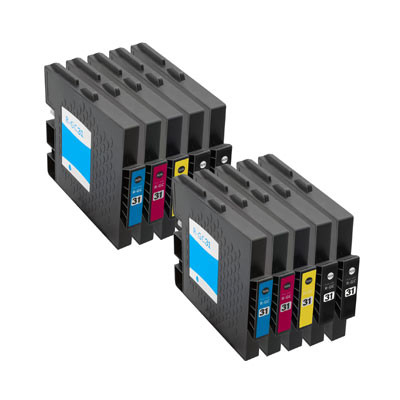 Huismerk Ricoh GC-31 Inktcartridges (gel) Multipack 8-Pack