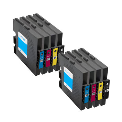 Huismerk Ricoh GC-21 Inktcartridges (gel) Multipack 8-Pack