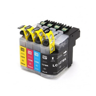 Huismerk-Brother-LC-125XL/LC-127XL-Inktcartridges-Multipack